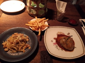 Spaghettini Agli Olio with Tuna & Beef Wellington with French Fries